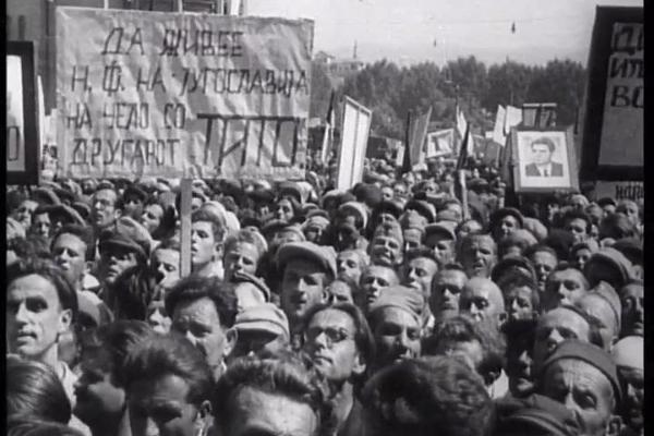 Оваа сабота на Cinesquare историскиот документарец ПЕТ ГОДИНИ НРМ (Народна Република Македонија)